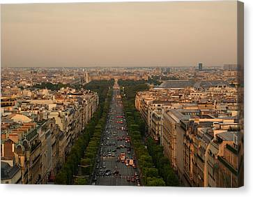 Paris View At Sunset Canvas Print by CNovo