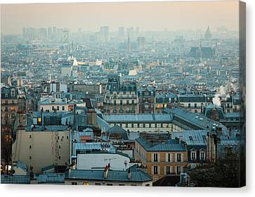 Paris View From Sacre-coeur Canvas Print by Thanks for visiting my work !!
