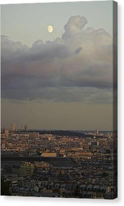 Parisian Moon Canvas Print