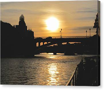 Parisian Sunset Canvas Print