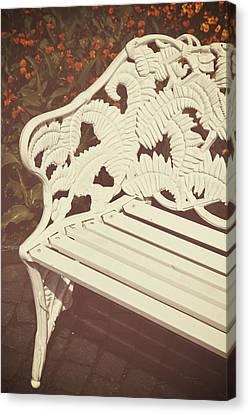 Park Benches Canvas Print - Park Bench by Joana Kruse