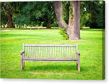 Park Bench Canvas Print by Tom Gowanlock