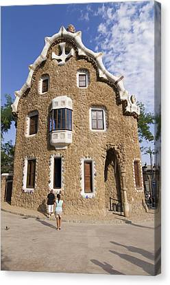 Park Guell Barcelona Antoni Gaudi Canvas Print by Matthias Hauser