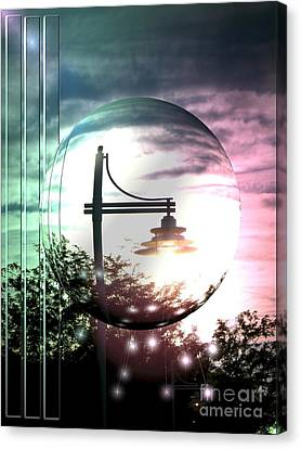 Park Light Canvas Print by Laurence Oliver