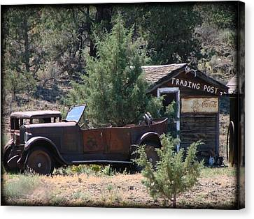 Canvas Print featuring the photograph Parked At The Trading Post by Athena Mckinzie
