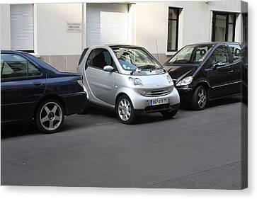 Parking In Paris Canvas Print