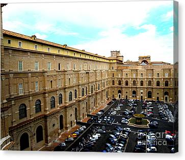 Canvas Print featuring the photograph Parking Lot In Vatican by Tanya  Searcy