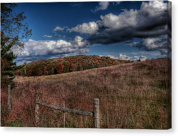 Parkway Fence Canvas Print by Todd Hostetter