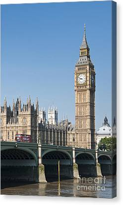 Canvas Print featuring the photograph Parliament by Andrew  Michael
