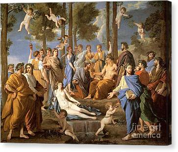 Parnassus, Apollo And The Muses, 1635 Canvas Print by Photo Researchers