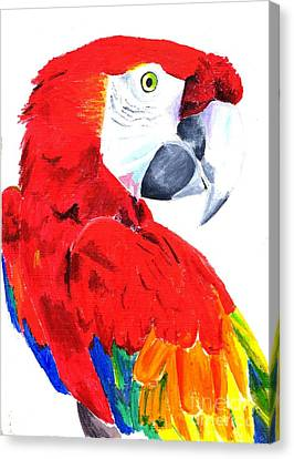 Parrot Canvas Print by Helen Esdaile