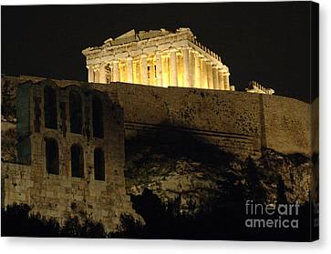 Parthenon Athens Canvas Print by Bob Christopher