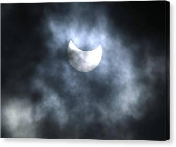 Partial Solar Eclipse, August 2008 Canvas Print by Ria Novosti