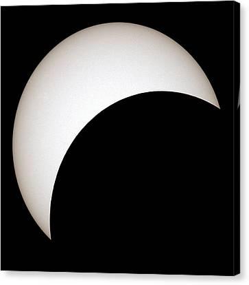 Partial Solar Eclipse Canvas Print by Laurent Laveder