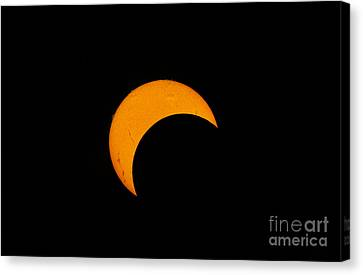 Partial Solar Eclipse Of 2012 Canvas Print by Phillip Jones