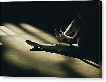 Partially Hidden In Shadow, A Ballet Canvas Print by Robert Madden