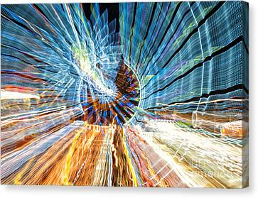 Particle Accelerator With Angel Canvas Print
