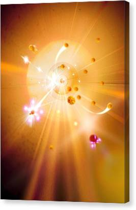Particle Collision Canvas Print by Richard Kail