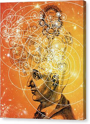 Particle Tracks And Old Cosmology Canvas Print by Mehau Kulyk