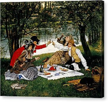 Partie Carree Canvas Print by James Jacques Joseph Tissot