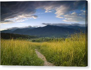 Parting Clouds At The Smokies Canvas Print by Andrew Soundarajan