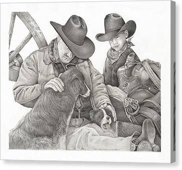Partners Canvas Print