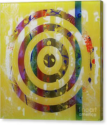 Party- Bullseye 2 Canvas Print by Mordecai Colodner