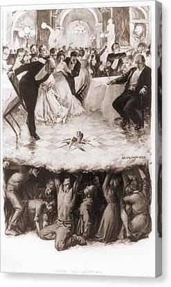 Party Of The Well-to-do Is Disrupted Canvas Print