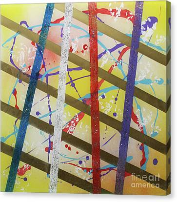 Party-stripes-1 Canvas Print by Mordecai Colodner