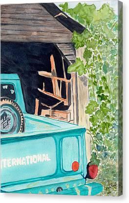 Pa's Truck Canvas Print