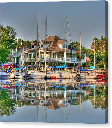 Pascagoula Boat Harbor Canvas Print by Barry Jones