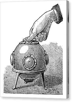 Pascal's Principle Demonstration, 1889 Canvas Print by