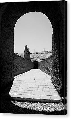 Passage Temple Of Hatshepsut Canvas Print by Darcy Michaelchuk