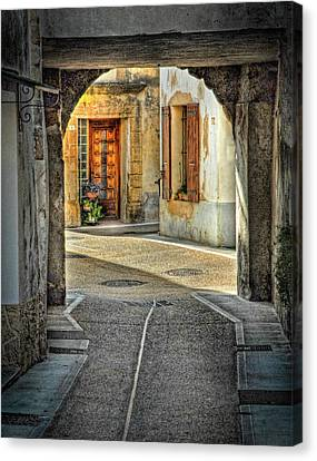 Canvas Print featuring the photograph Passageway And Arch In Provence by Dave Mills