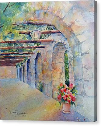 Passageway Of History At The Alamo Canvas Print
