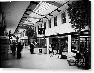 passenger concourse of Glasgow Buchanan street bus station Scotland UK Canvas Print by Joe Fox
