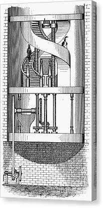 Passenger Elevator, 1876 Canvas Print by Granger