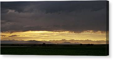 Canvas Print featuring the photograph Passing Storm Clouds by Monte Stevens