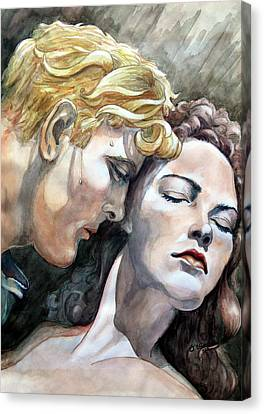 Passionate Embrace Canvas Print by Hanne Lore Koehler