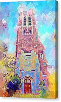 Pastel Beaumont Tower Canvas Print by Paul Bartoszek