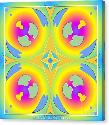 Pastel Hearts Warp 2 Canvas Print by Rose Santuci-Sofranko