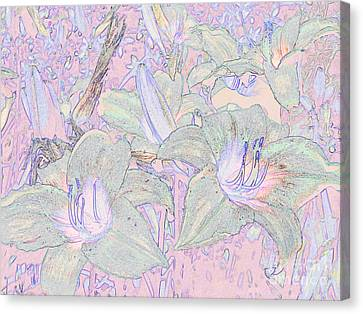 Pastel Lillies Canvas Print