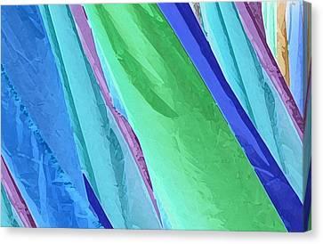 Canvas Print featuring the photograph Pastel Silks by Deborah Smith