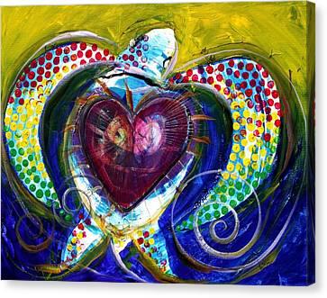 Pastel Turtle Heart Canvas Print by J Vincent Scarpace