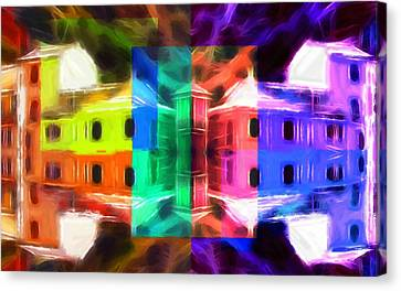 Pastel Windows Canvas Print by Steve K
