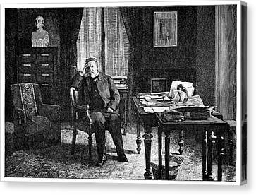 Pasteur In His Study, 19th Century Canvas Print by