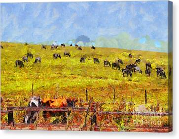 Pastoral Landscape Painterly . 7d15962 Canvas Print by Wingsdomain Art and Photography