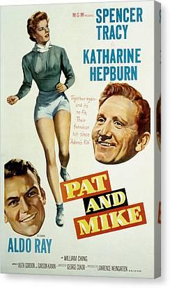 Pat And Mike, Aldo Ray, Katharine Canvas Print