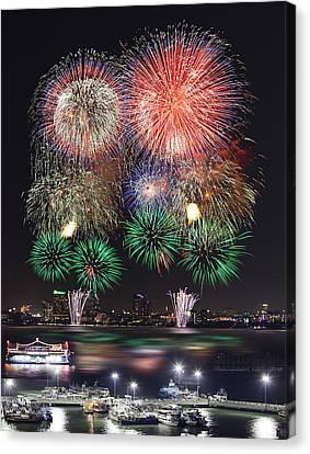 Pataya City Firework Festival Canvas Print by Anek Suwannaphoom