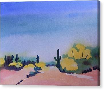 Path In The Desert Canvas Print